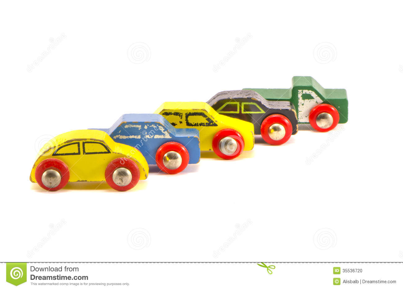 Five Old Retro Toy Cars Isolated On White Background Stock ...