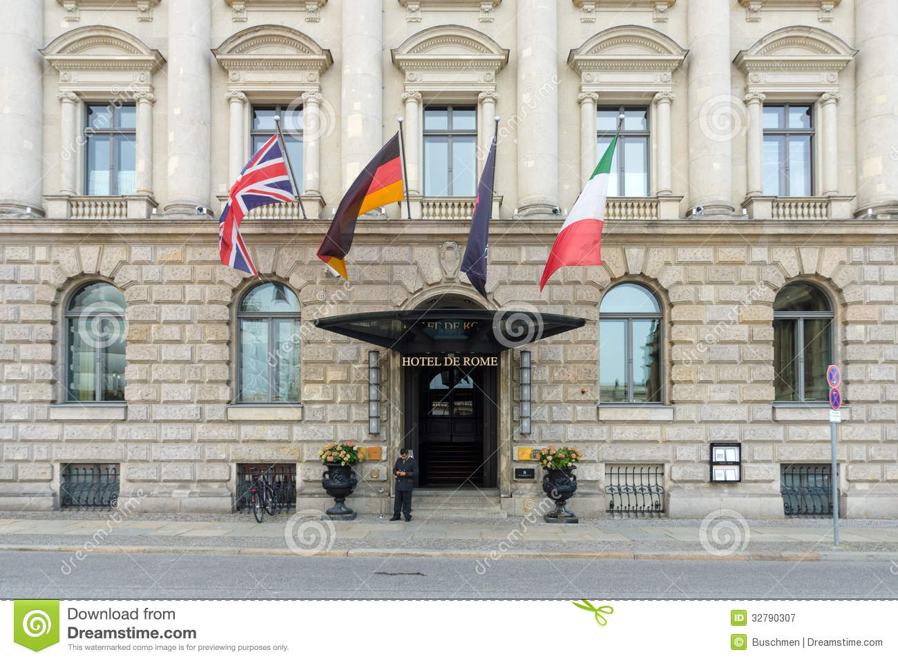 Five-star Hotel - Hotel De Rome Editorial Photography - Image of ...