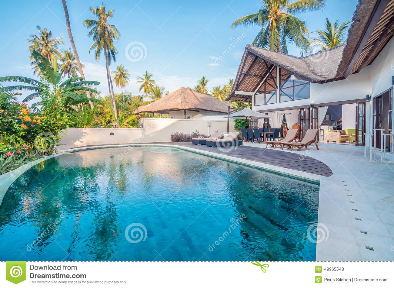 Five star villa bali stock photo image 49965548 for Green garden pool jakarta