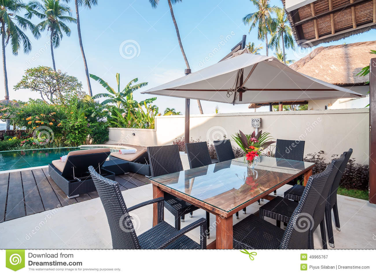 Five star villa bali stock photo image 49965767 for Green garden pool jakarta