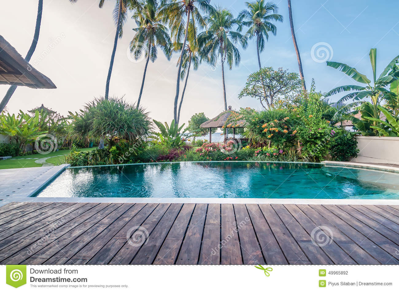 Five star villa bali stock photo image 49965892 for Green garden pool jakarta