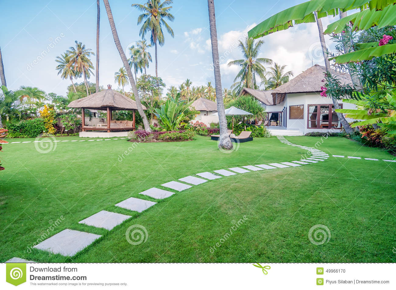 Five star villa bali stock photo image of plant resort for Green garden pool jakarta