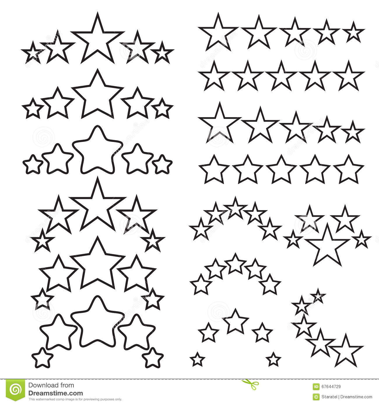 Five Stars Icons Five Star Quality Icons Five Star Symbols Stock