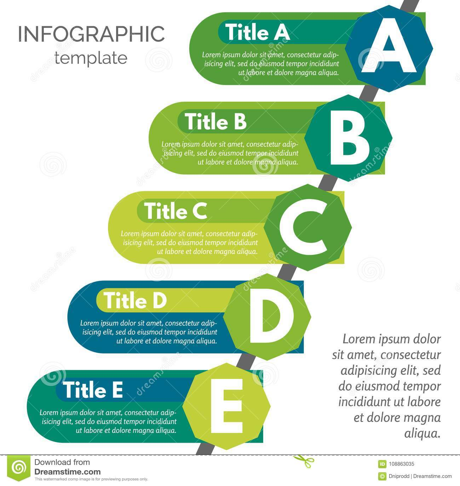 five steps infographic design elements stock vector illustration