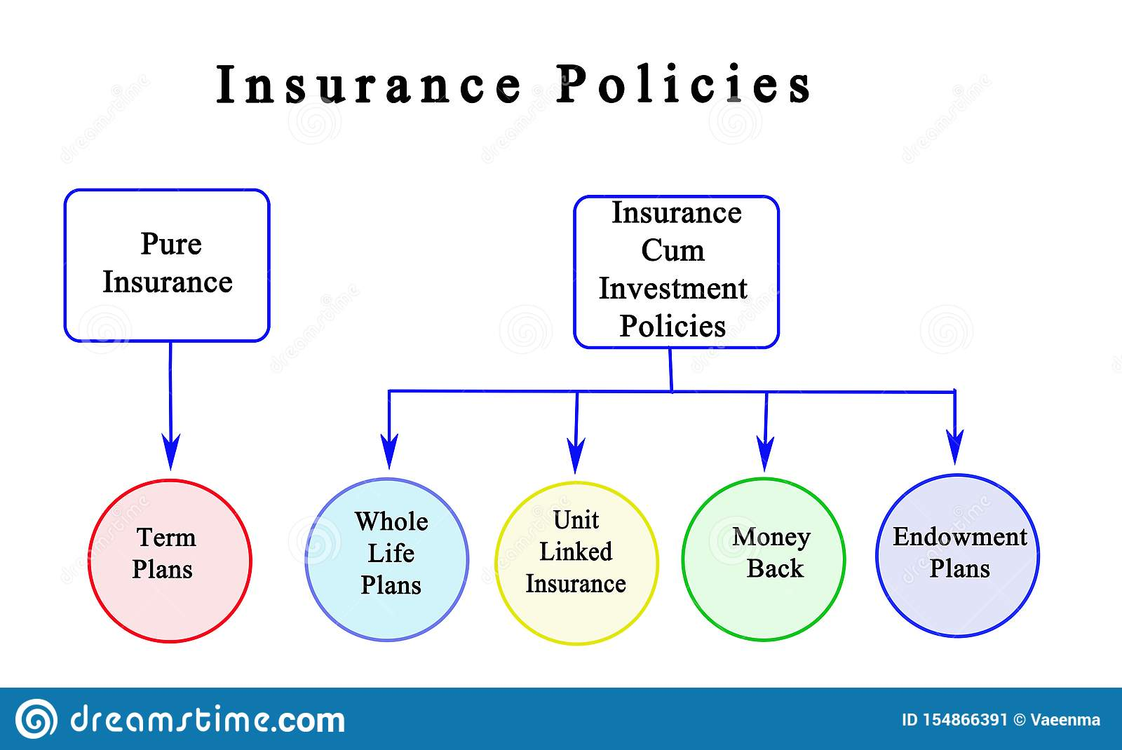 Types Of Insurance Policies Stock Illustration ...