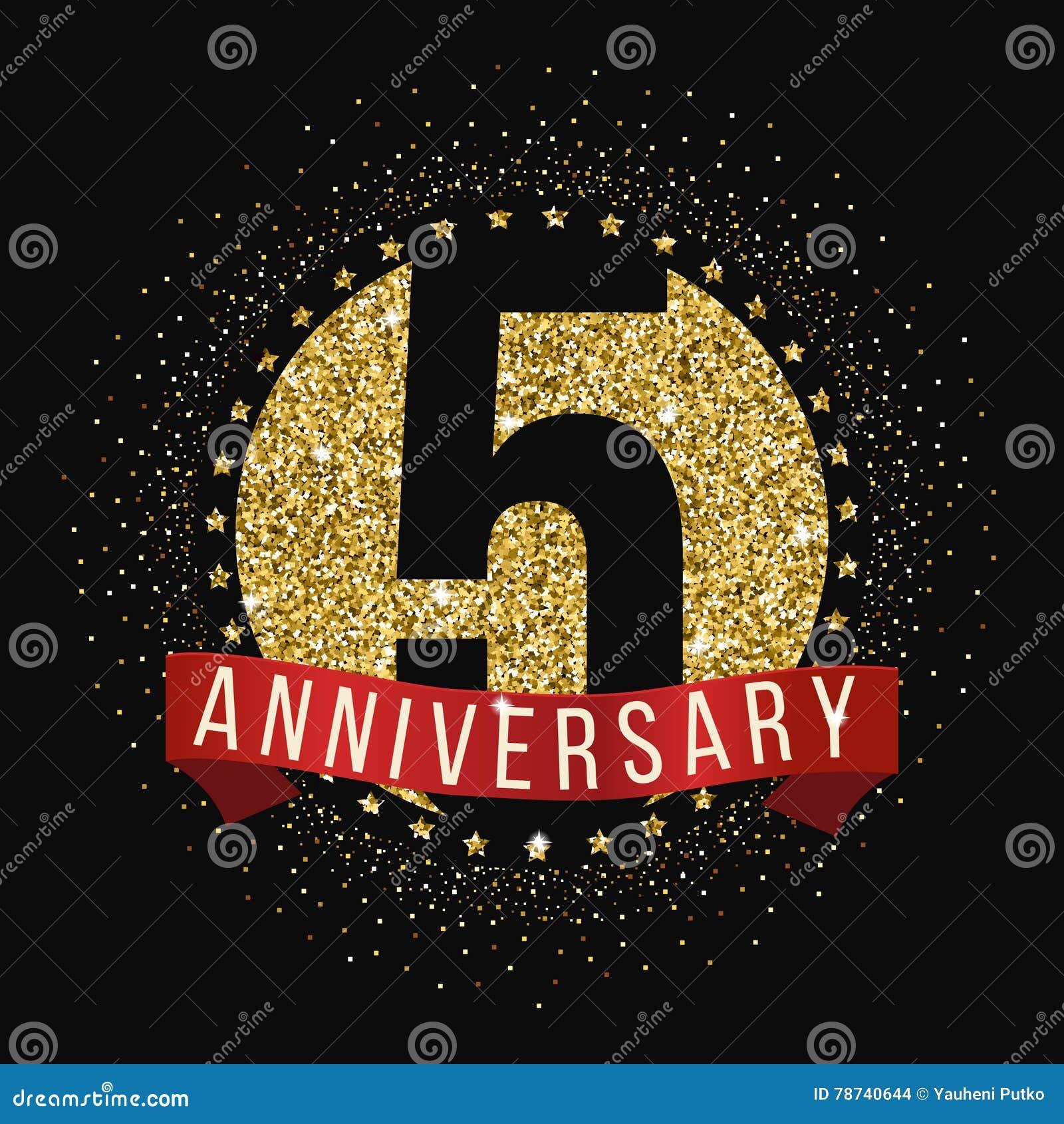 Five Years Anniversary Celebration Logotype. 5th ...