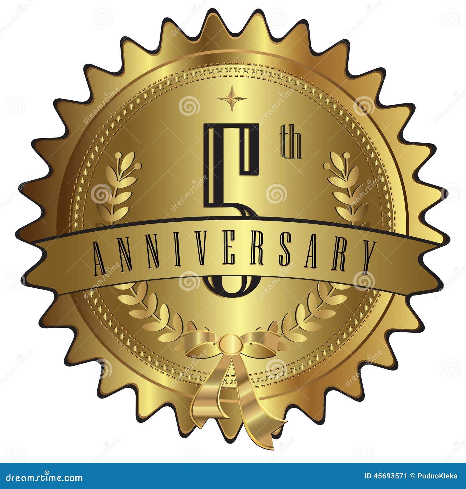 Five years gold anniversary seal label badge stock vector five years gold anniversary seal label badge biocorpaavc Gallery