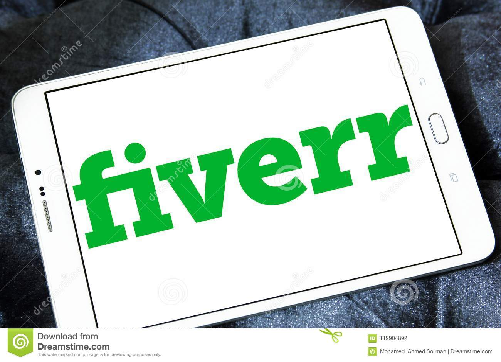 Fiverr company logo editorial photography  Image of motto
