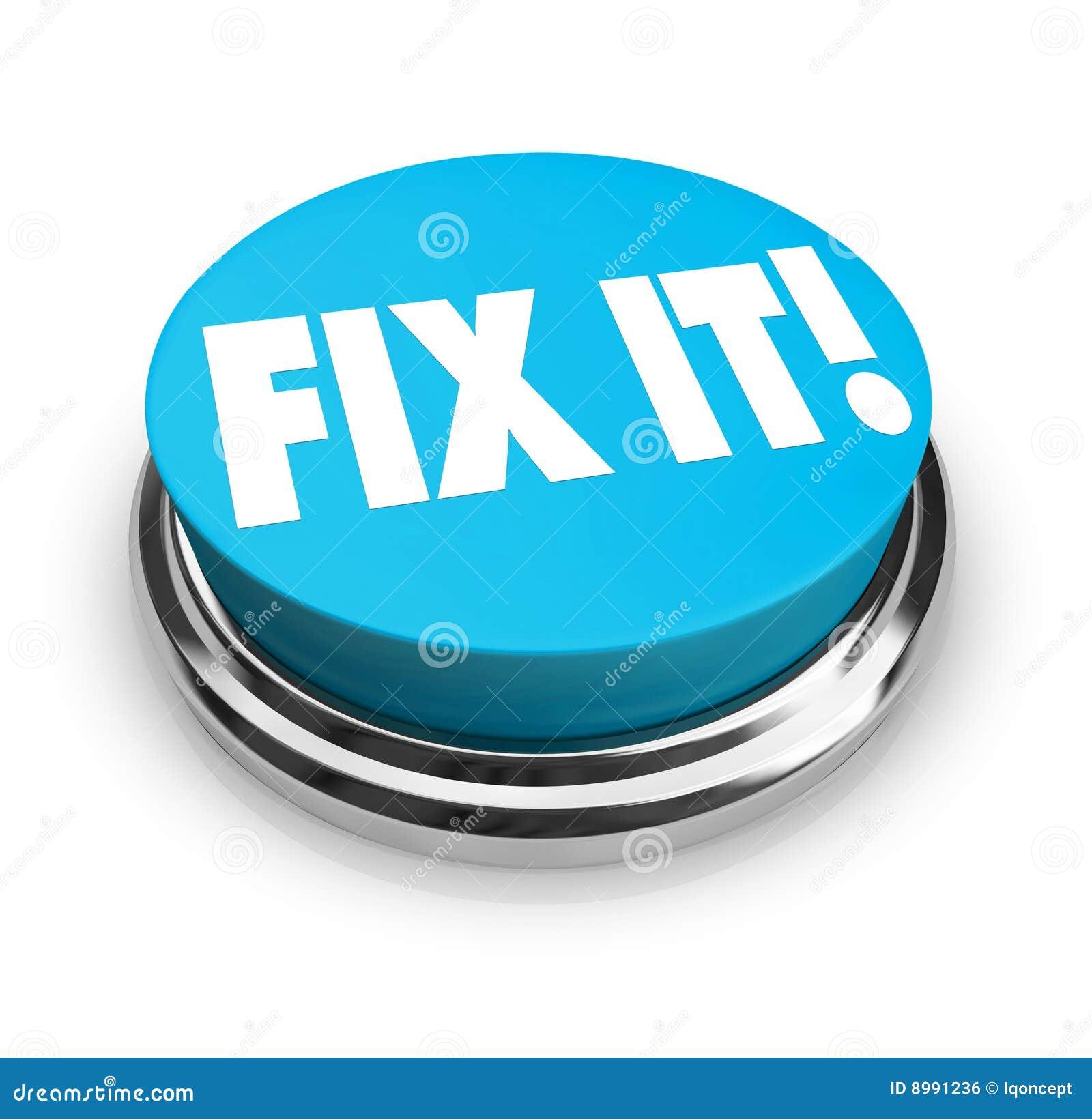 Construction Sign Clipart Fix It Button stock il...