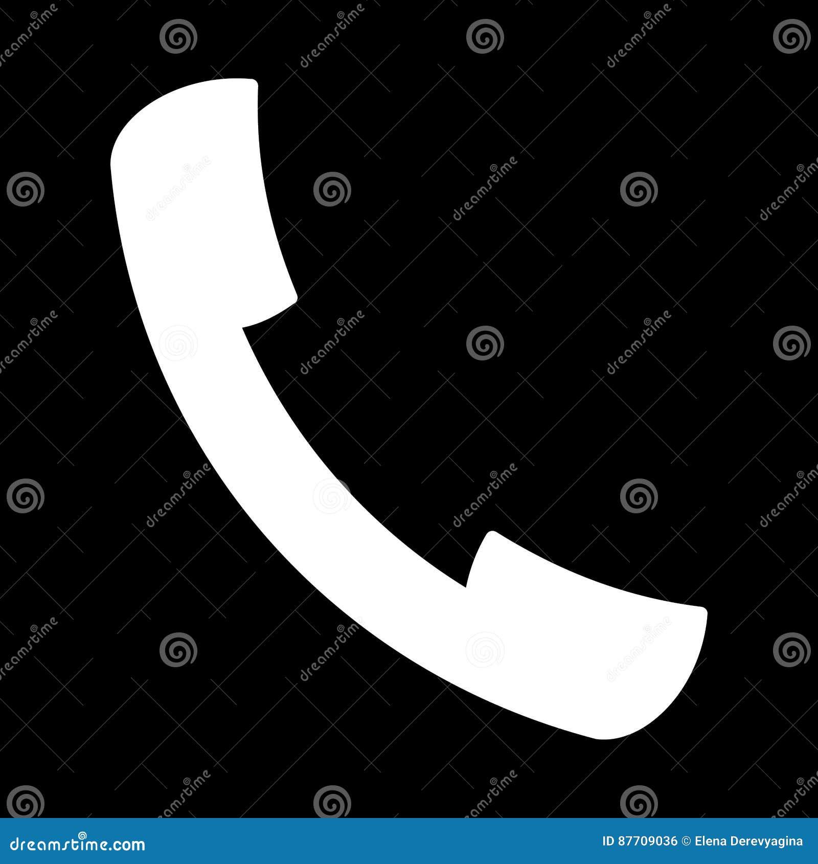 Fixez l icône à la main blanche sur un fond noir d illustration