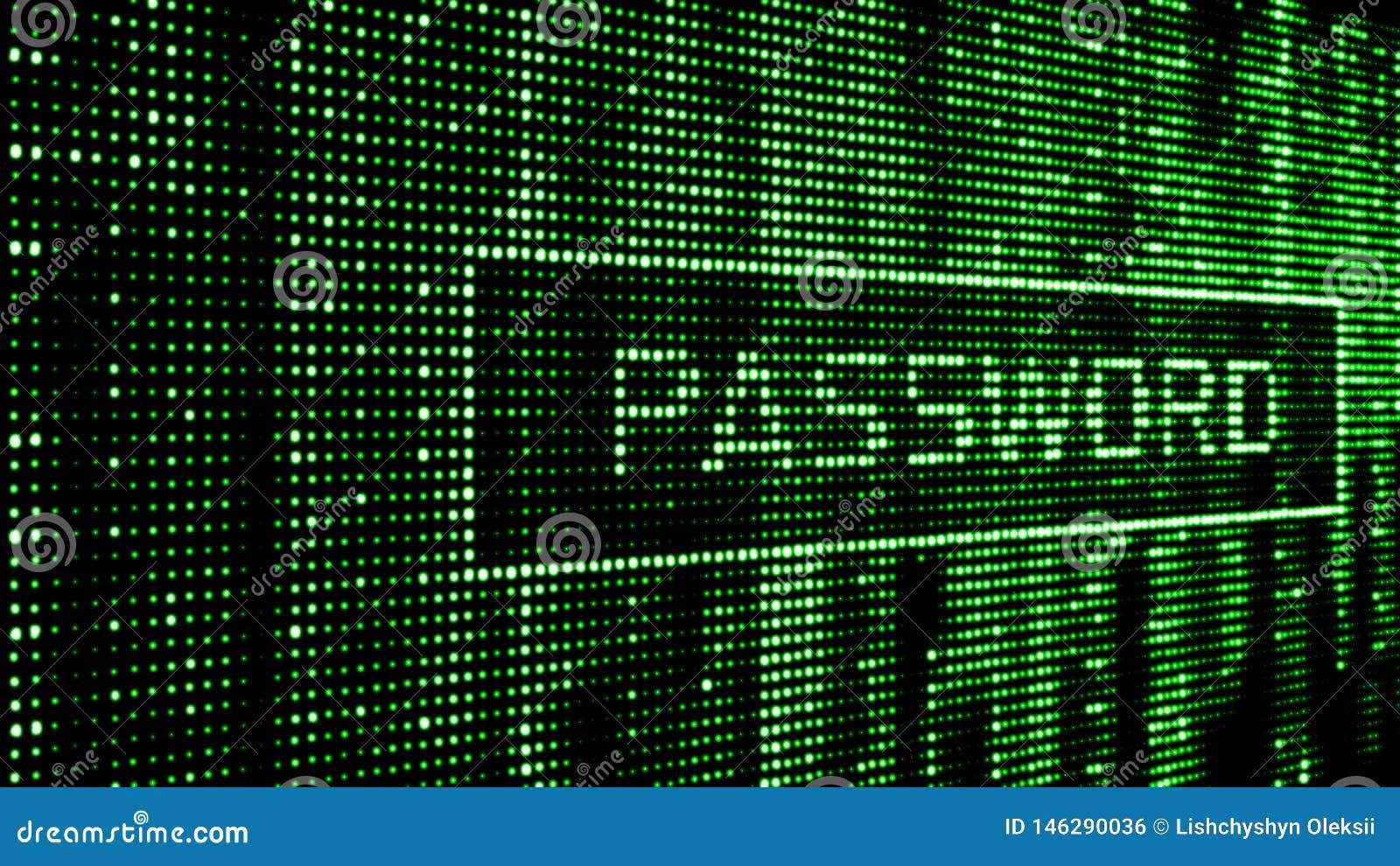 Fixez le mot de passe Attaque de Cyber tailler Matrice verte de fond de Digital Code machine binaire rendu 3d