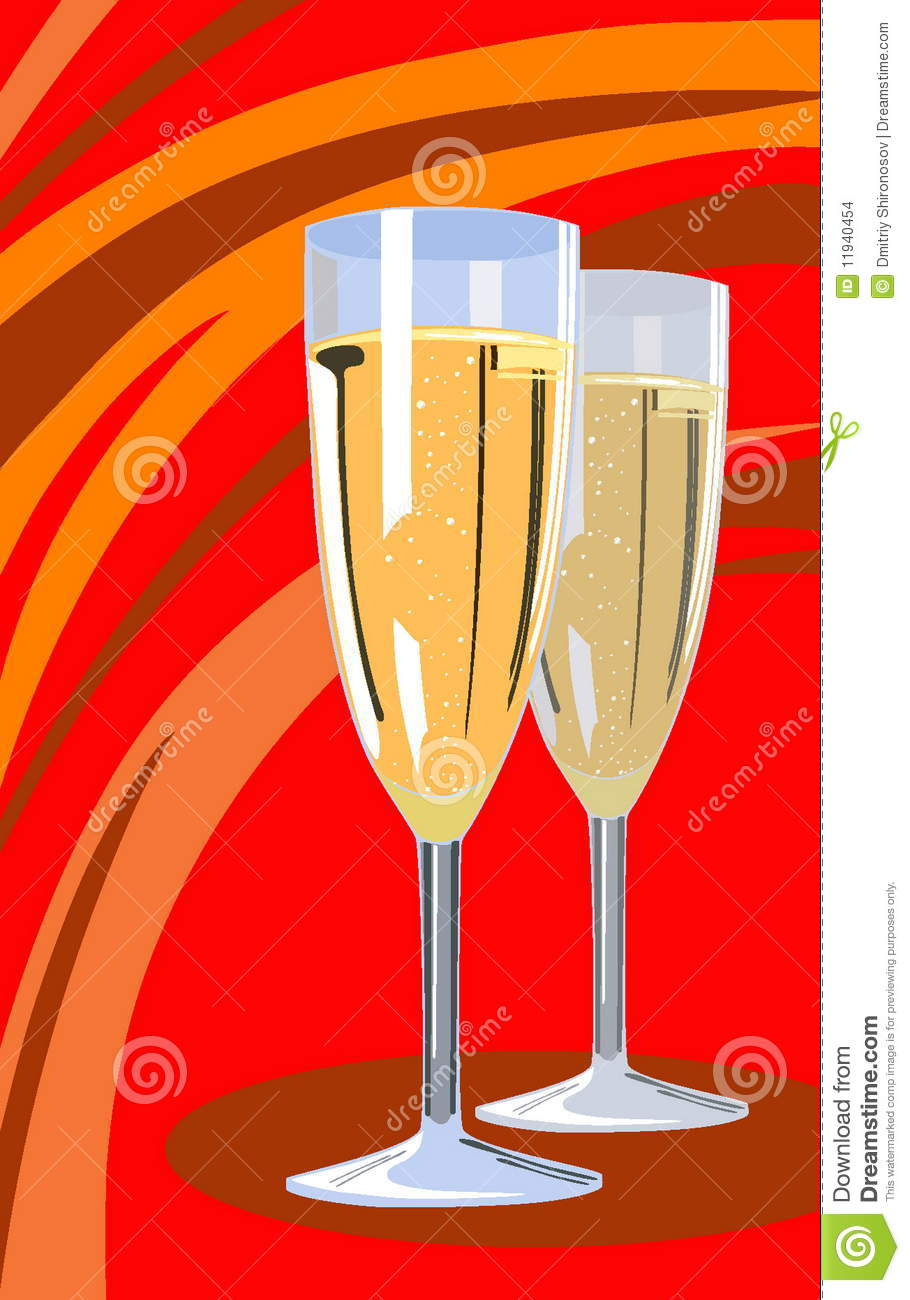 champagne flute cartoon vector images 43 - HD 910×1300