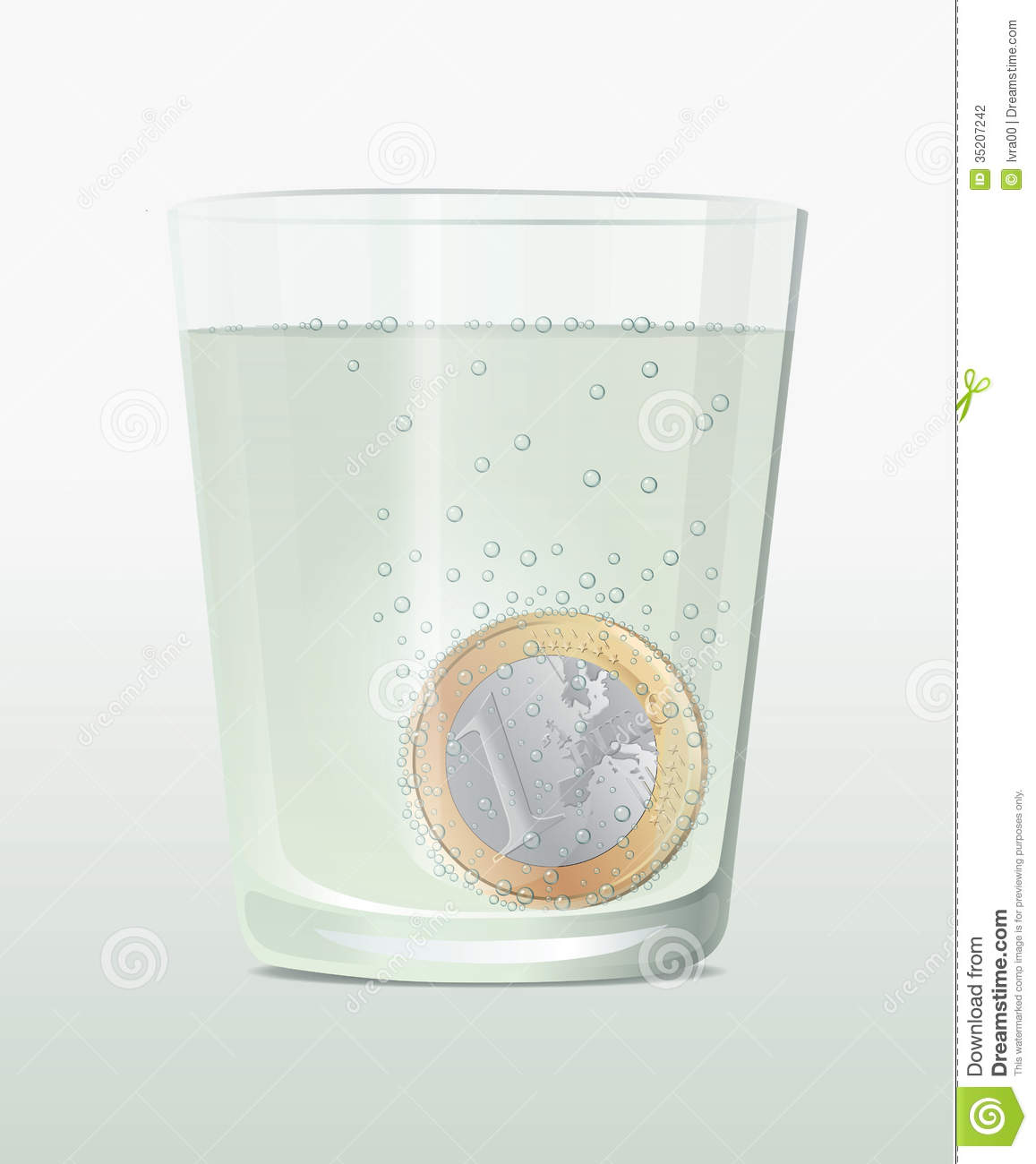 Fizzy Euro Coin Stock Photography - Image: 35207242
