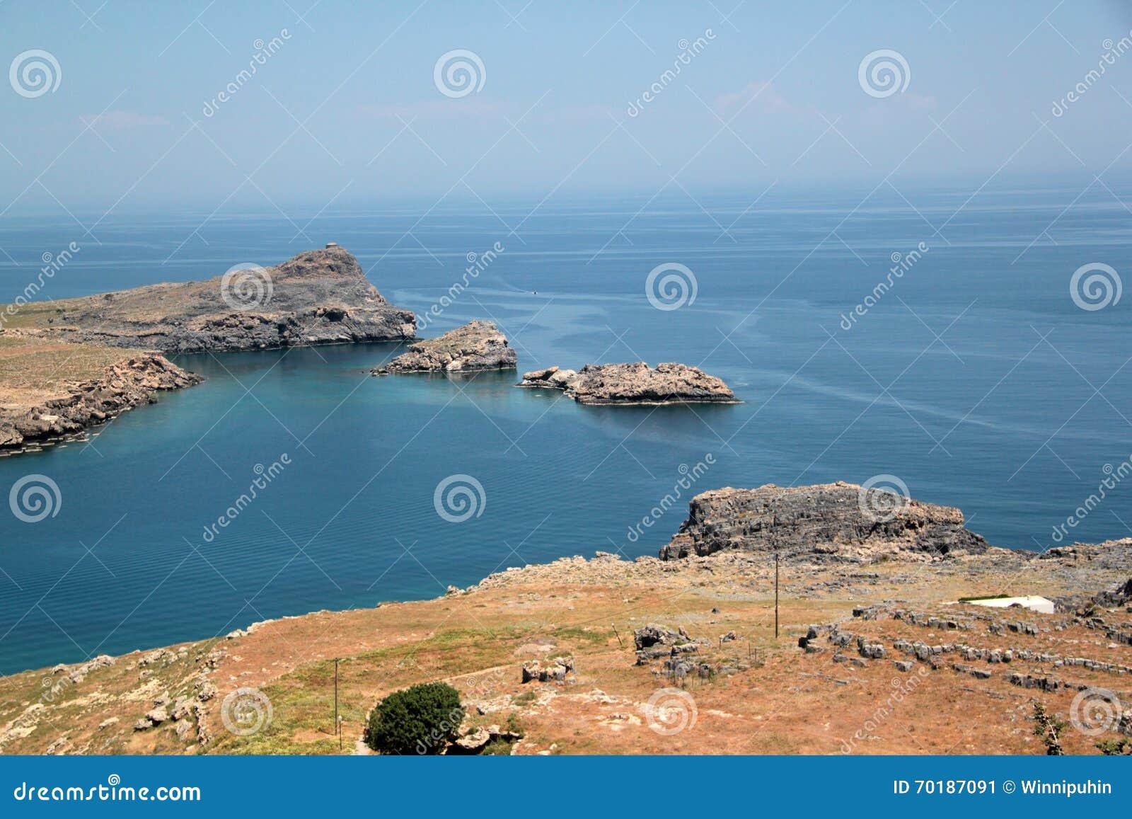 Fjärd på ön av Lindos
