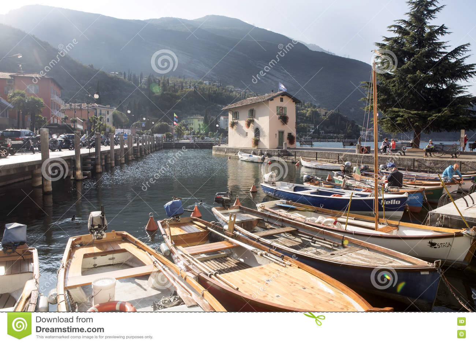 Fjärd sjö Garda, Torbelone, Italien
