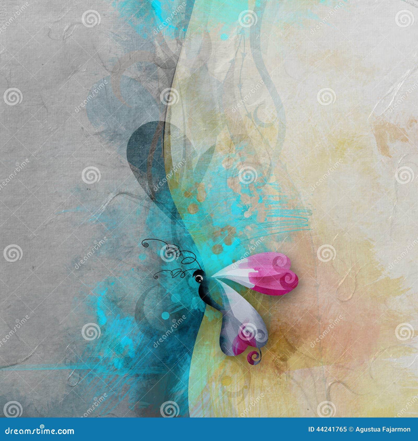 Fjäril med texturerad bakgrund
