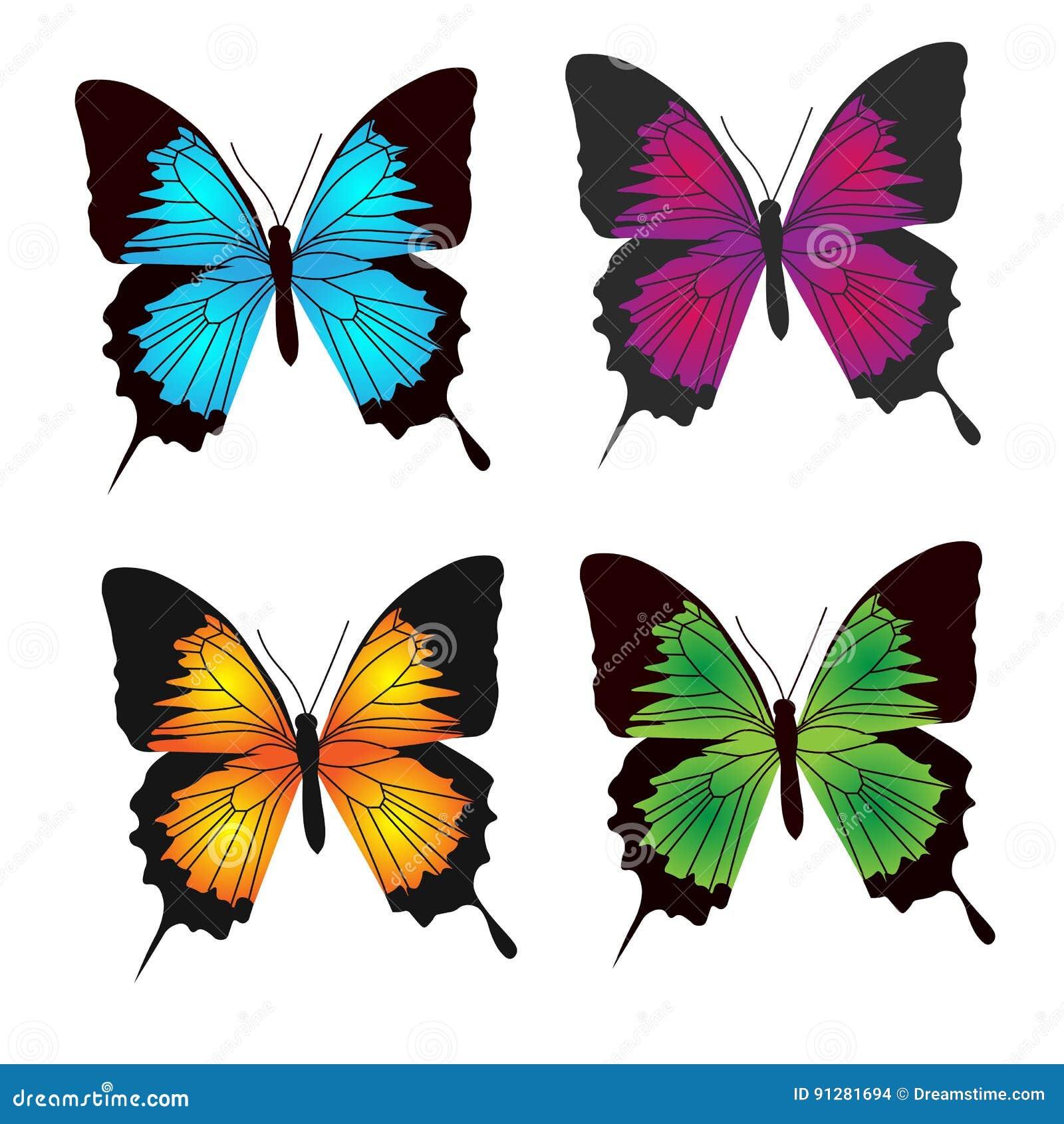 Fjärilsfärgsamling