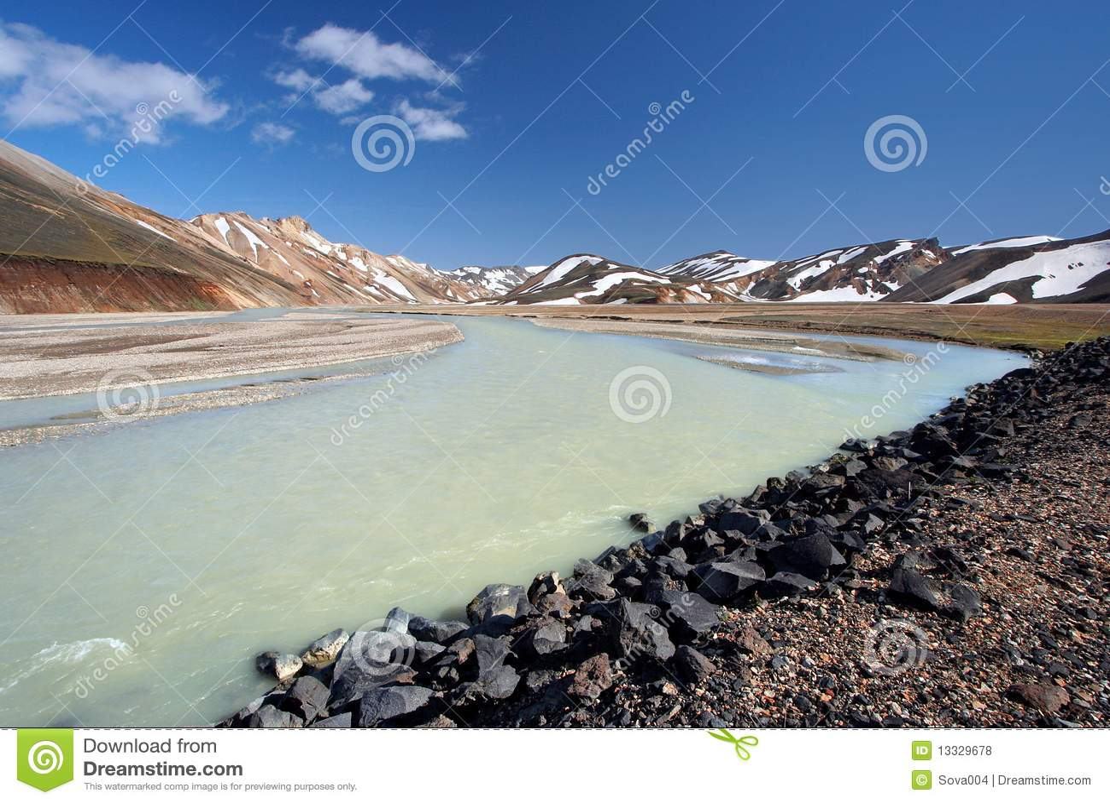 Fjallabak reservate landmannalaugar naturalny
