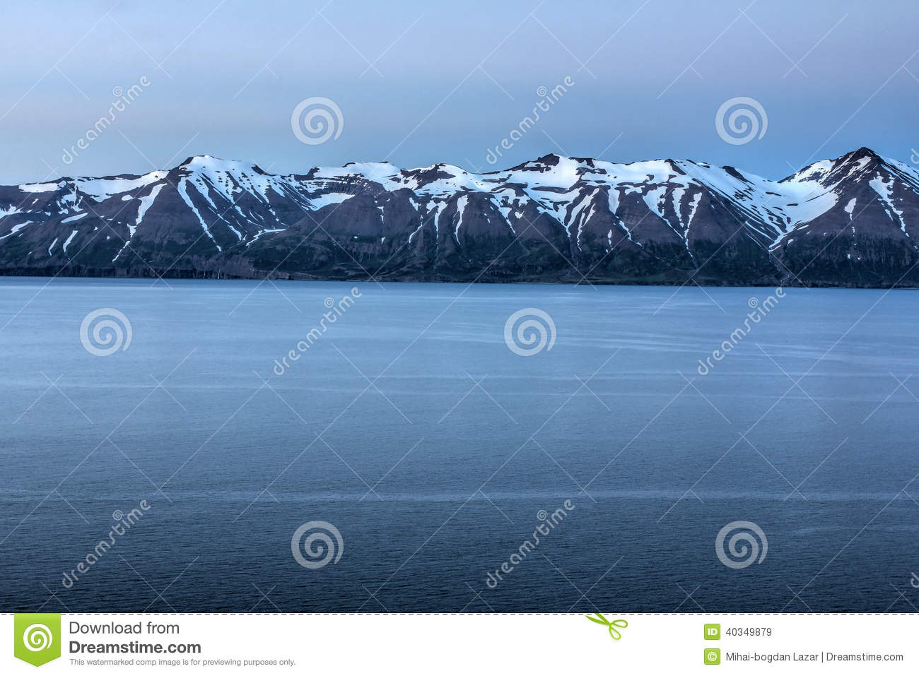 Download Fjord in Iceland stock image. Image of white, long, beauty - 40349879