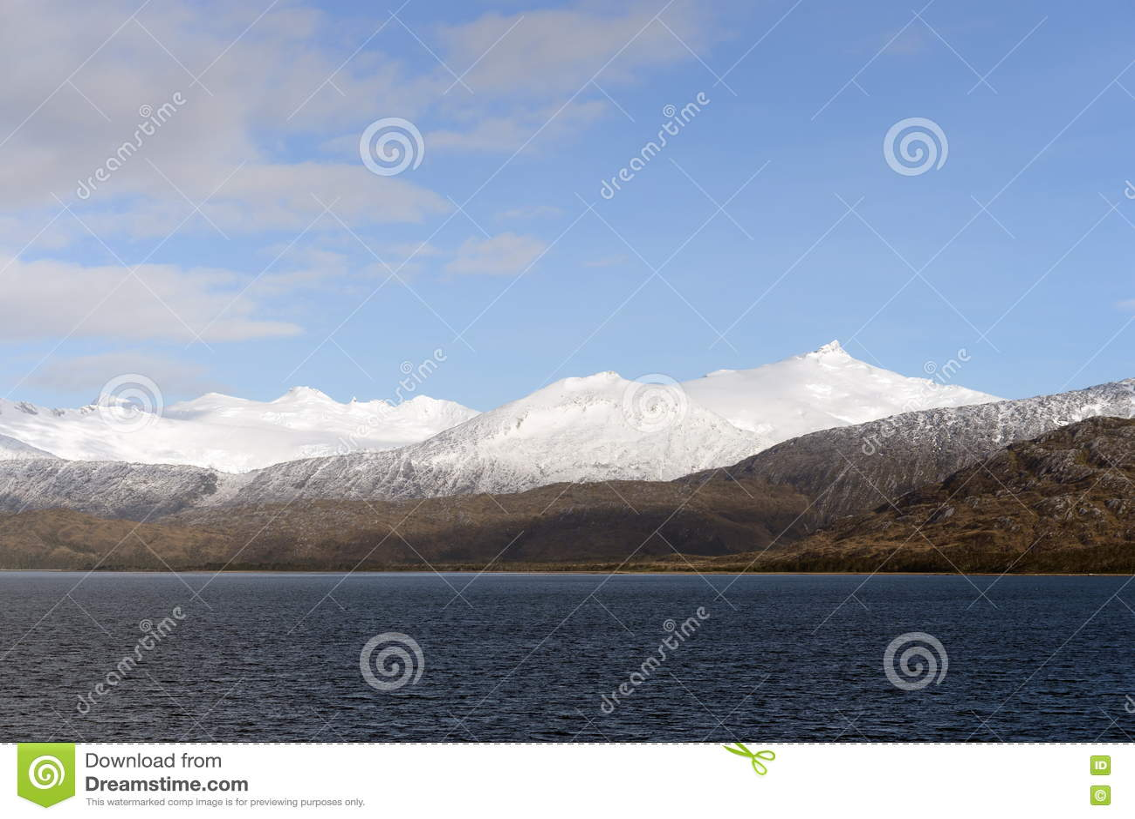 Fjord Pia archipelag Tierra Del Fuego