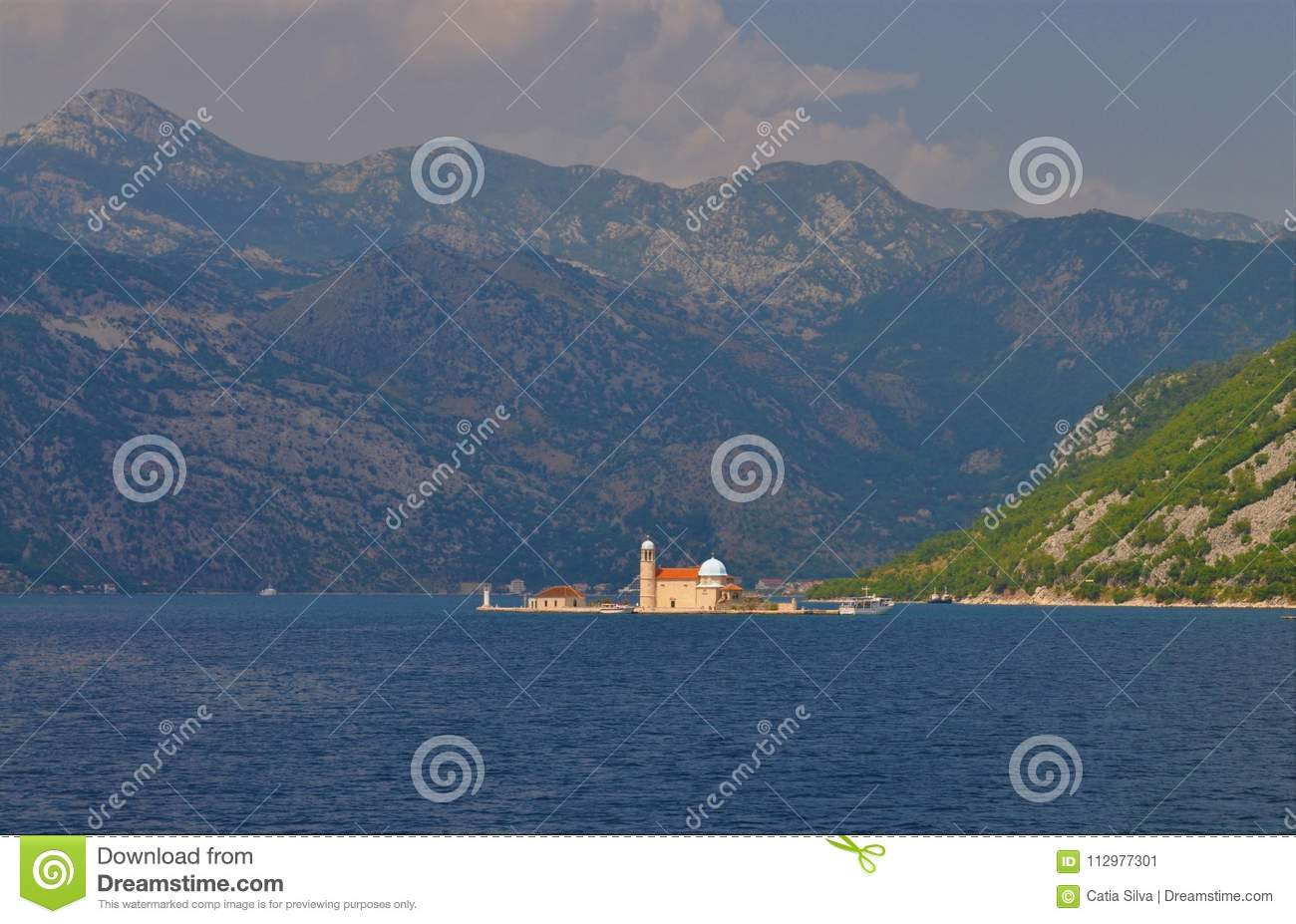 The fjords, the sea and the Church of Our Lady of the Rocks