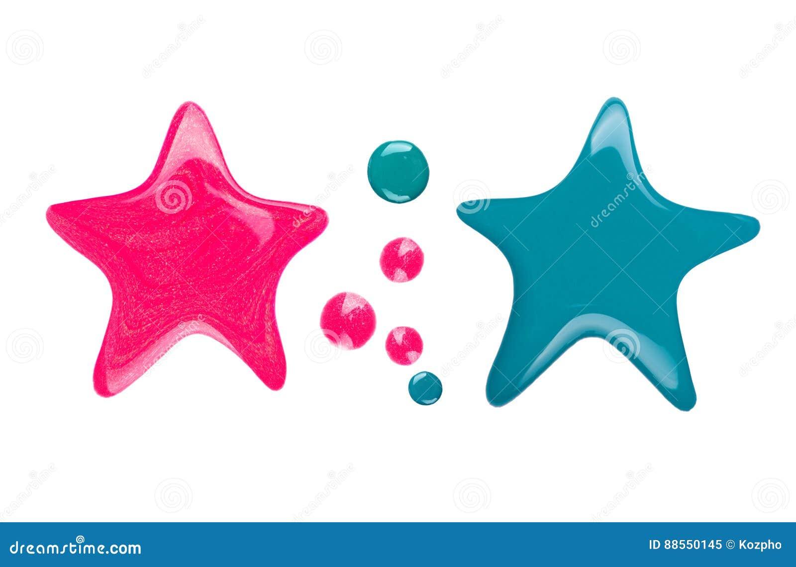 Fläckar eller droppander av spikar polermedel i form av stjärnan