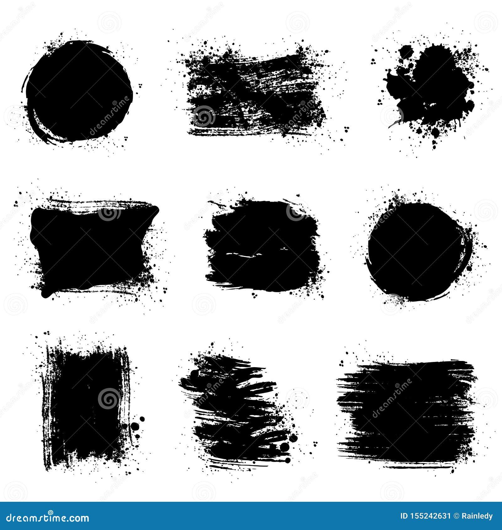 Fläckar för målarfärgborste Vektorgrungebakgrunder