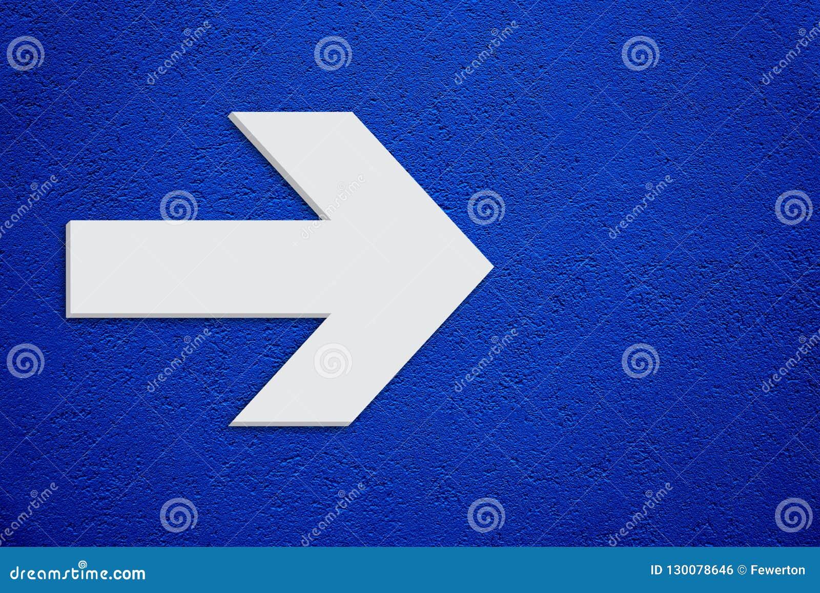 Couleur Gris Bleu Foncé flèche blanche dans la couleur grise blanche minimaliste 3d