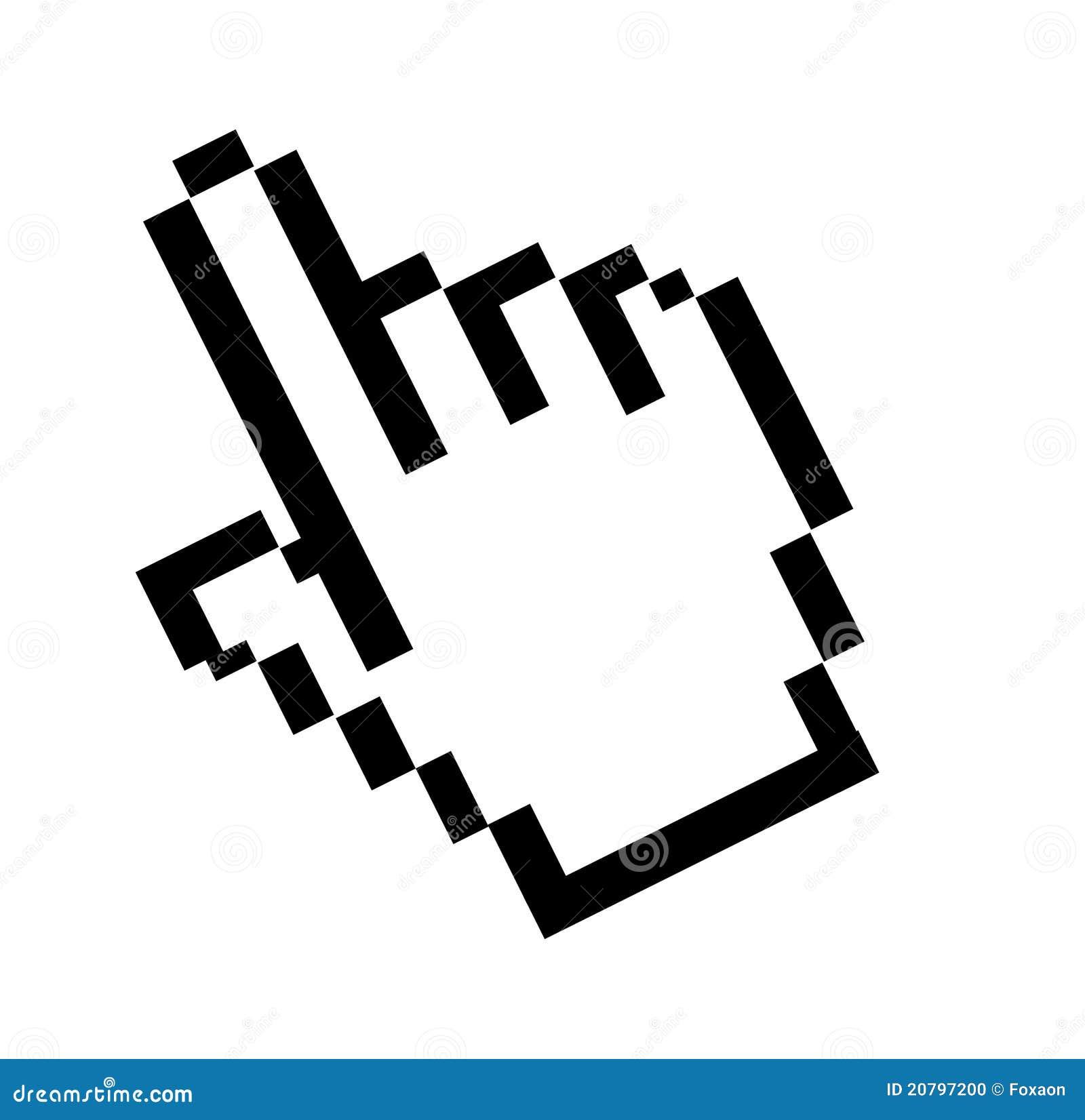 Fl che indicatrice de souris d 39 ordinateur illustration - Souris ordinateur dessin ...
