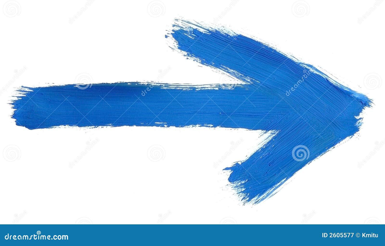 Flèche peinte à la main