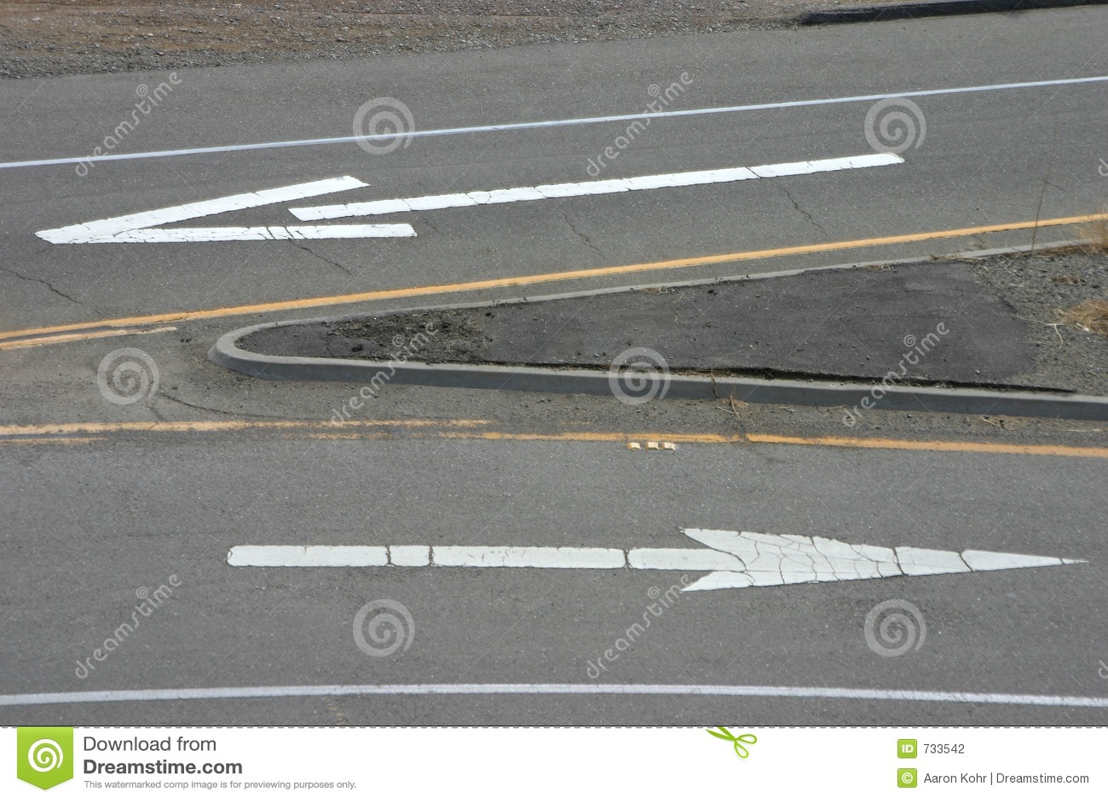 Flèches 3 de route
