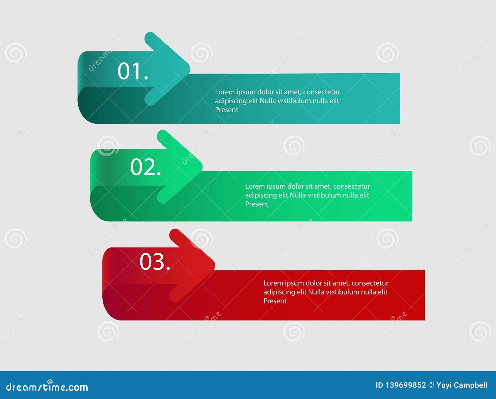 Flèches de vecteur pour infographic Calibre pour le diagramme, le graphique, la présentation et le diagramme