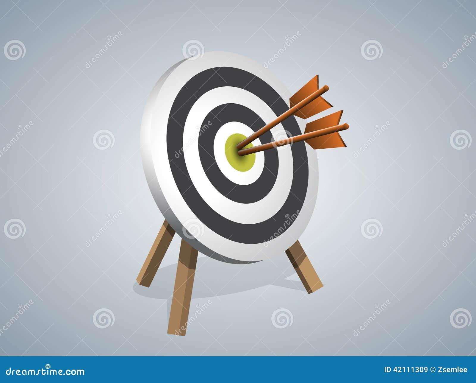 Flèches frappant une cible