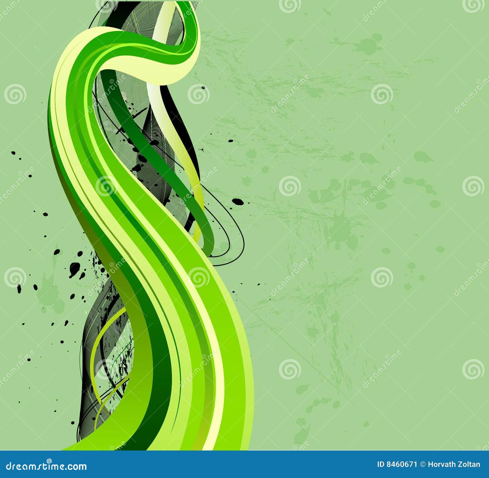 Flödande gröna waves