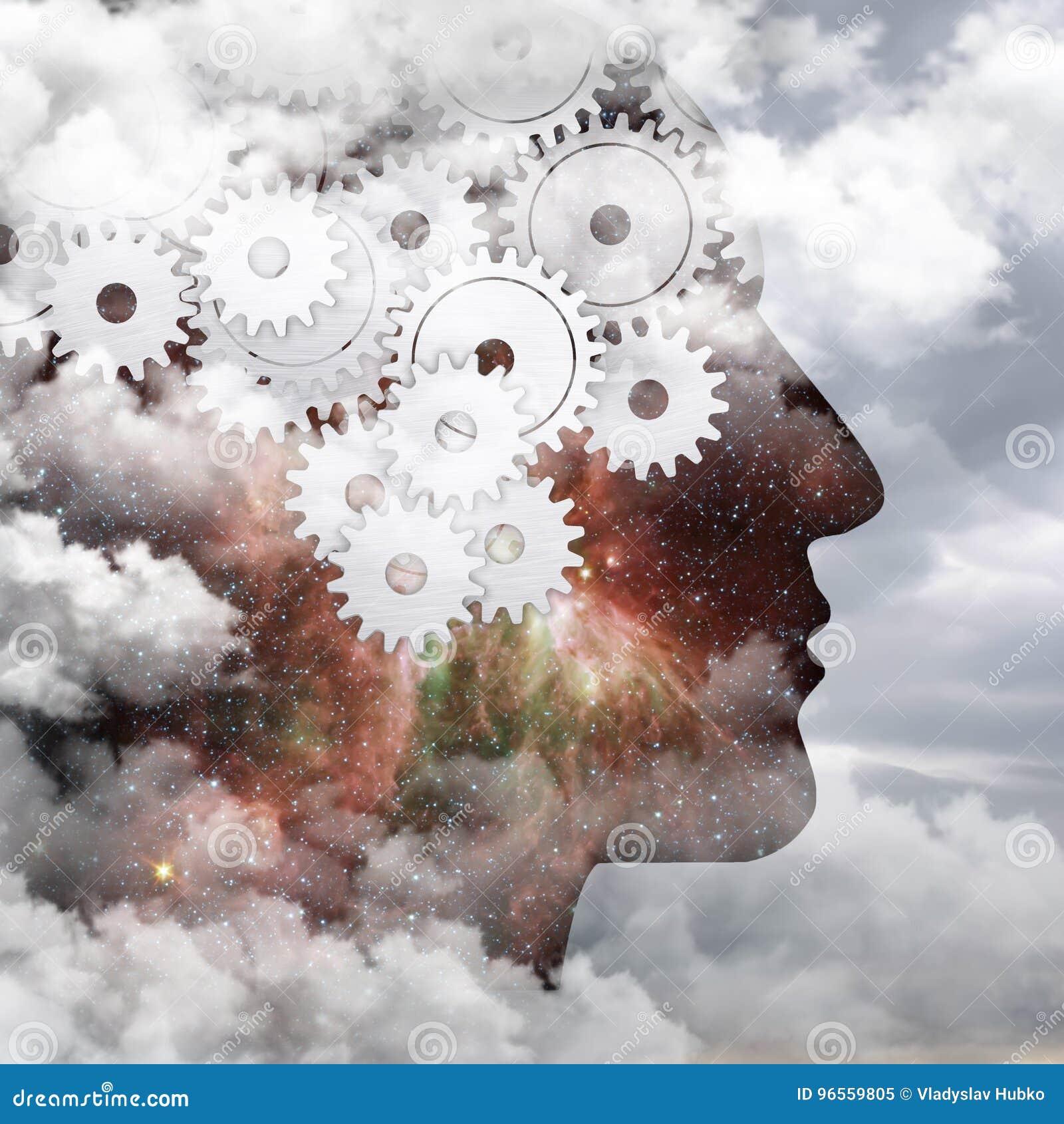 Flödet av tankar, den mänskliga hjärnan