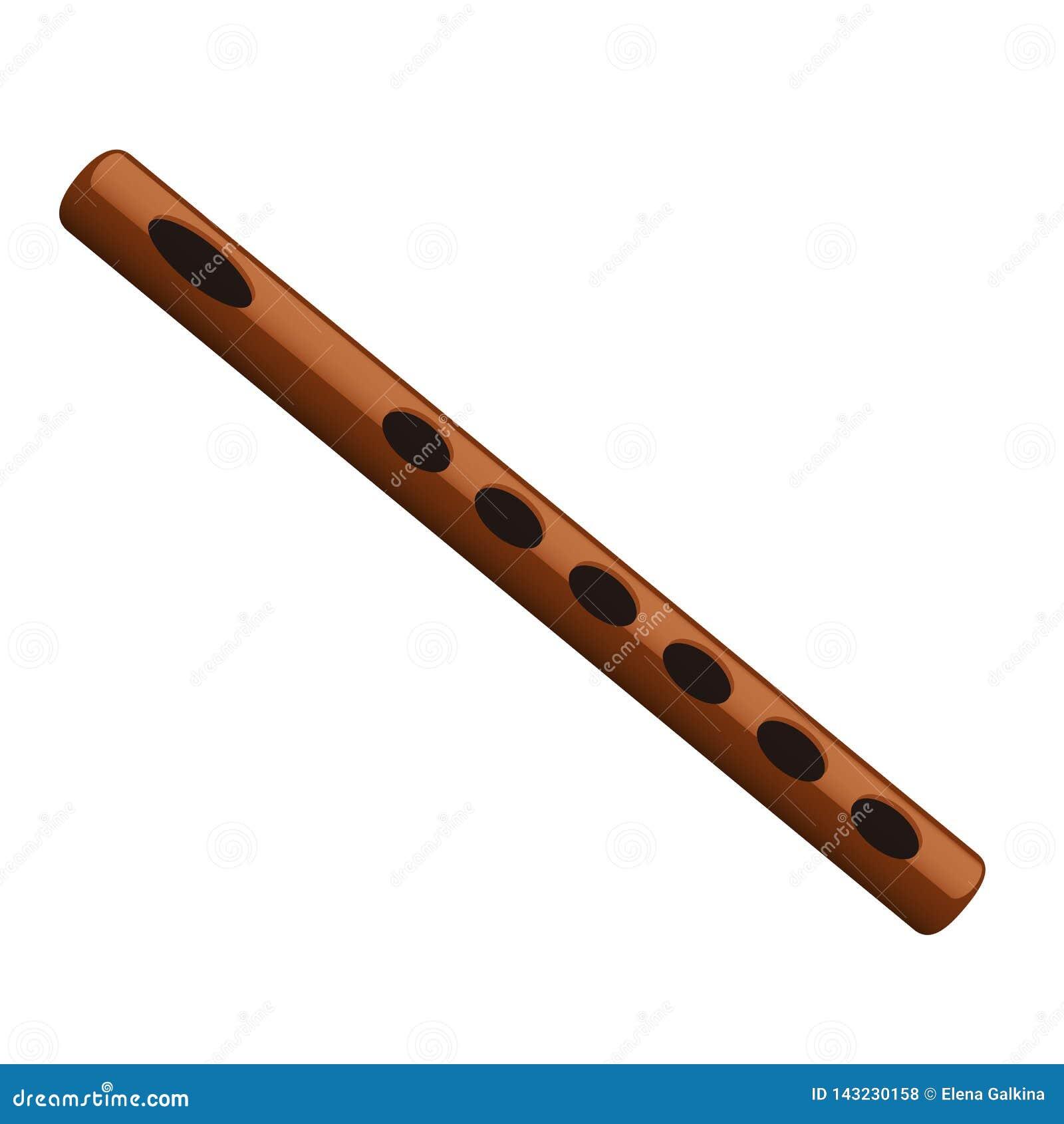 Flöte lokalisierter Vektor