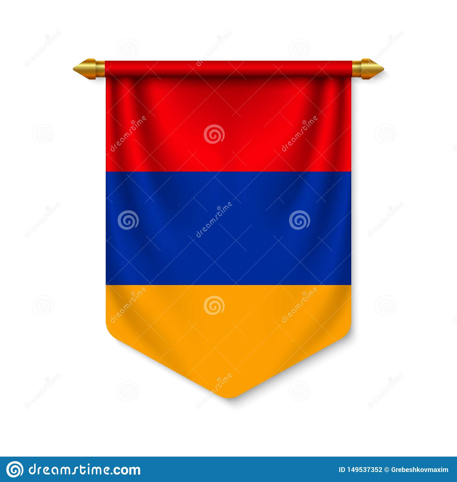 Fl?mula 3d real?stica com bandeira