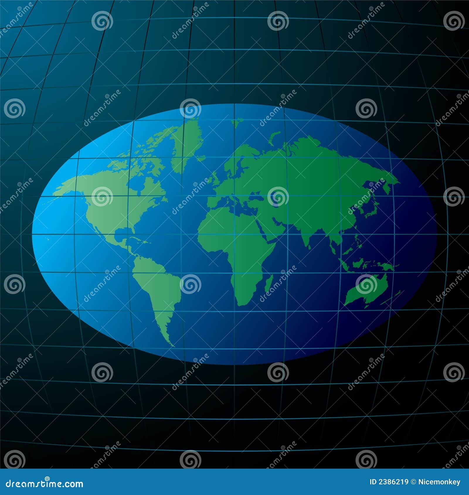 flache erde vektor abbildung bild von planet abbildung 2386219. Black Bedroom Furniture Sets. Home Design Ideas