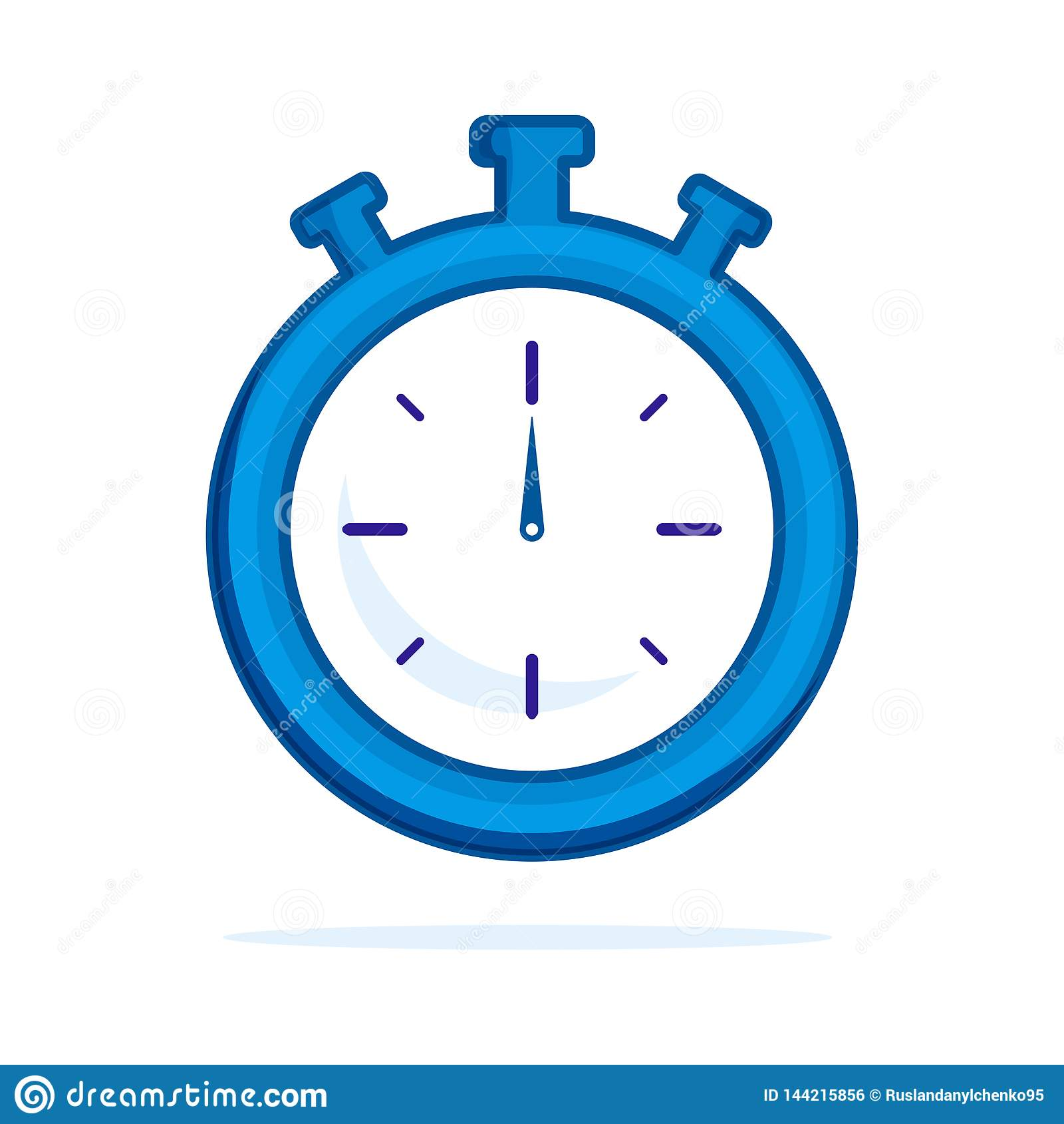 Flache Ikone der Uhr Einzelnes Entwurfssymbol der hohen Qualit?t von Eignung f?r Webdesign oder bewegliche APP Dünne Linie Zeiche
