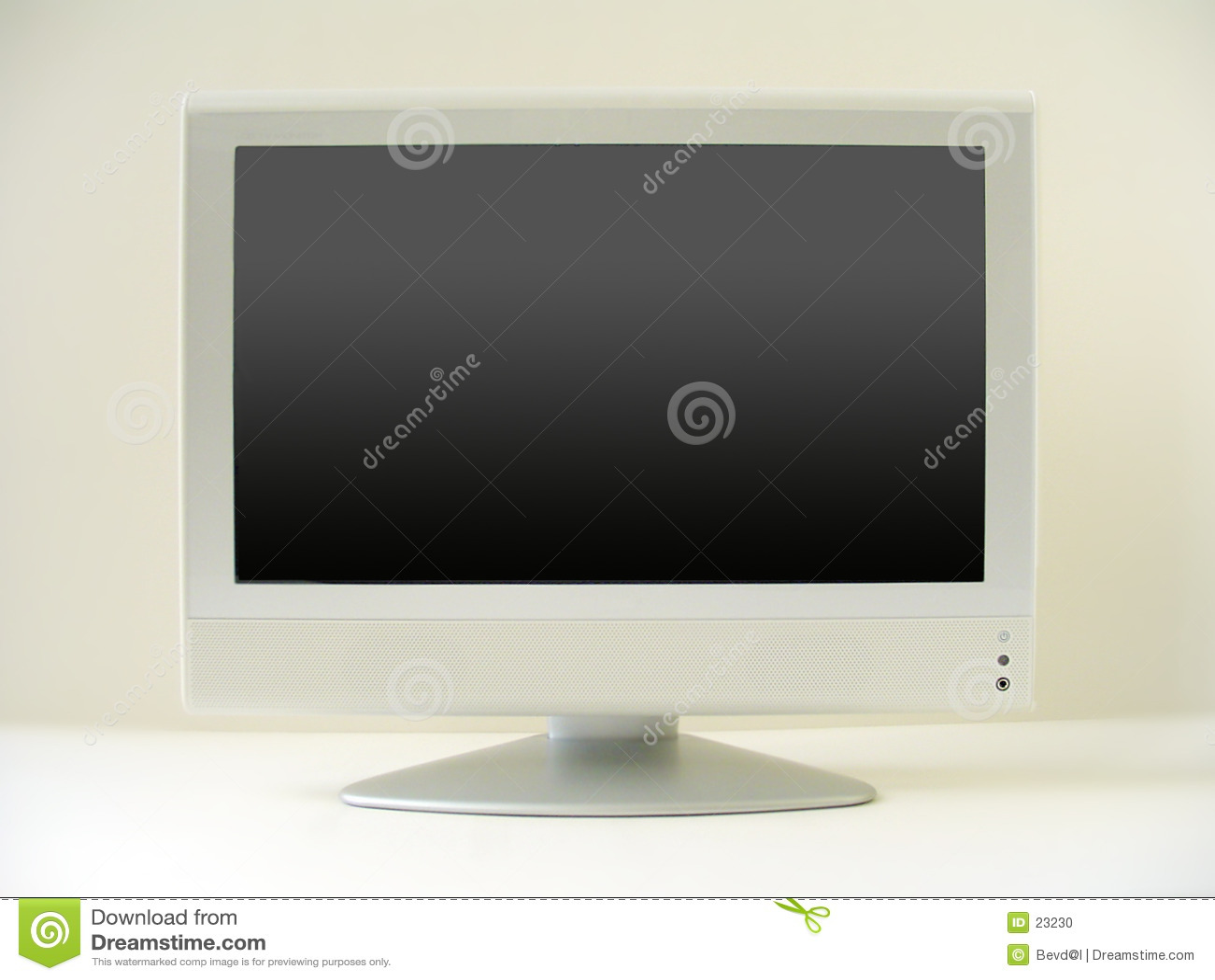 Flacher Fernsehbildschirm
