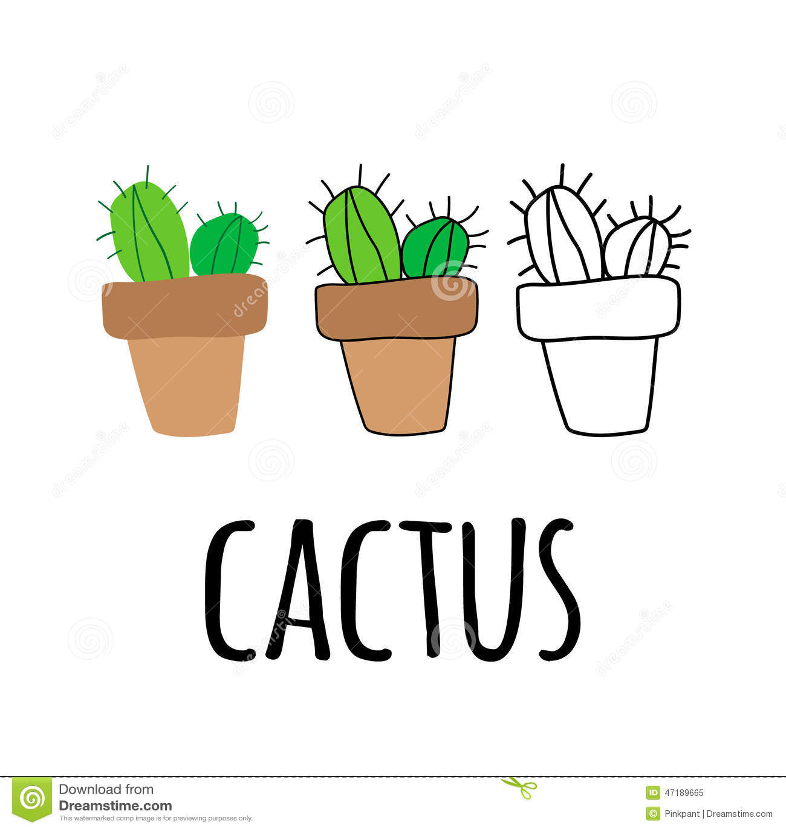 Flacher kaktus in einem topf zimmerpflanze stock abbildung illustration von kaktus frech - Kaktus zimmerpflanze ...