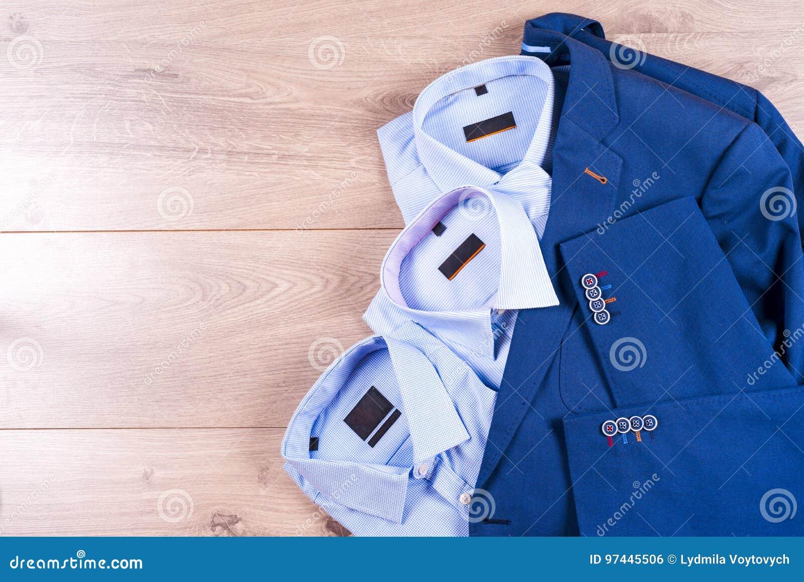 Flacher Lagesatz Kleidung Der Klassischen Männer Wie Blauer