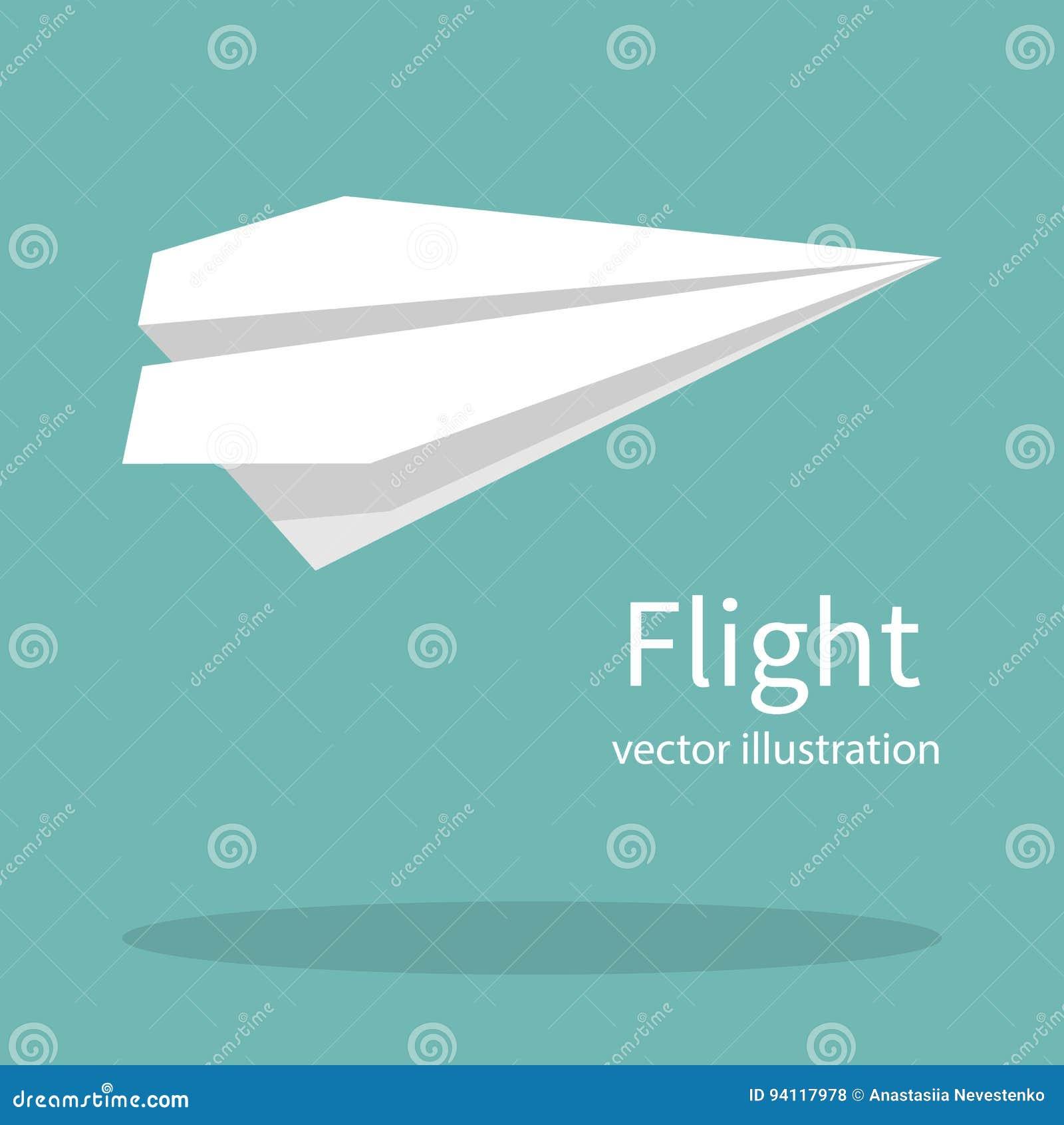 Flacher Papiervektor
