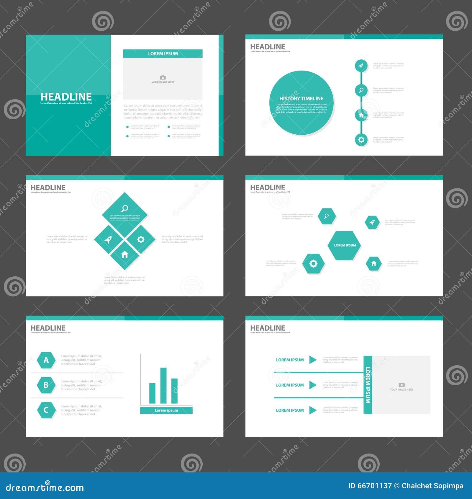 Flaches Design Grüner Polygondarstellungsschablonen Infographic ...