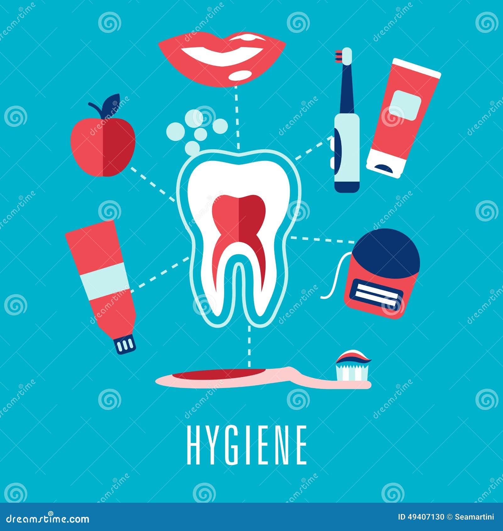 Download Flaches Mundpflegekonzept Im Blauen Hintergrund Vektor Abbildung - Illustration von sozial, symbol: 49407130
