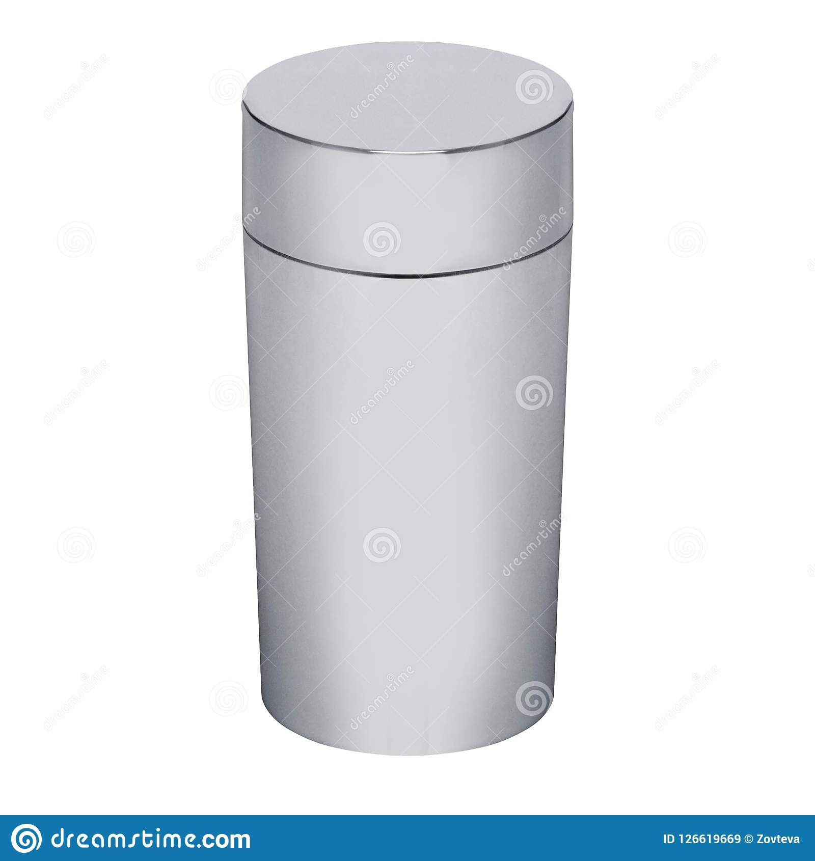Flacon de thermos d isolement sur le blanc