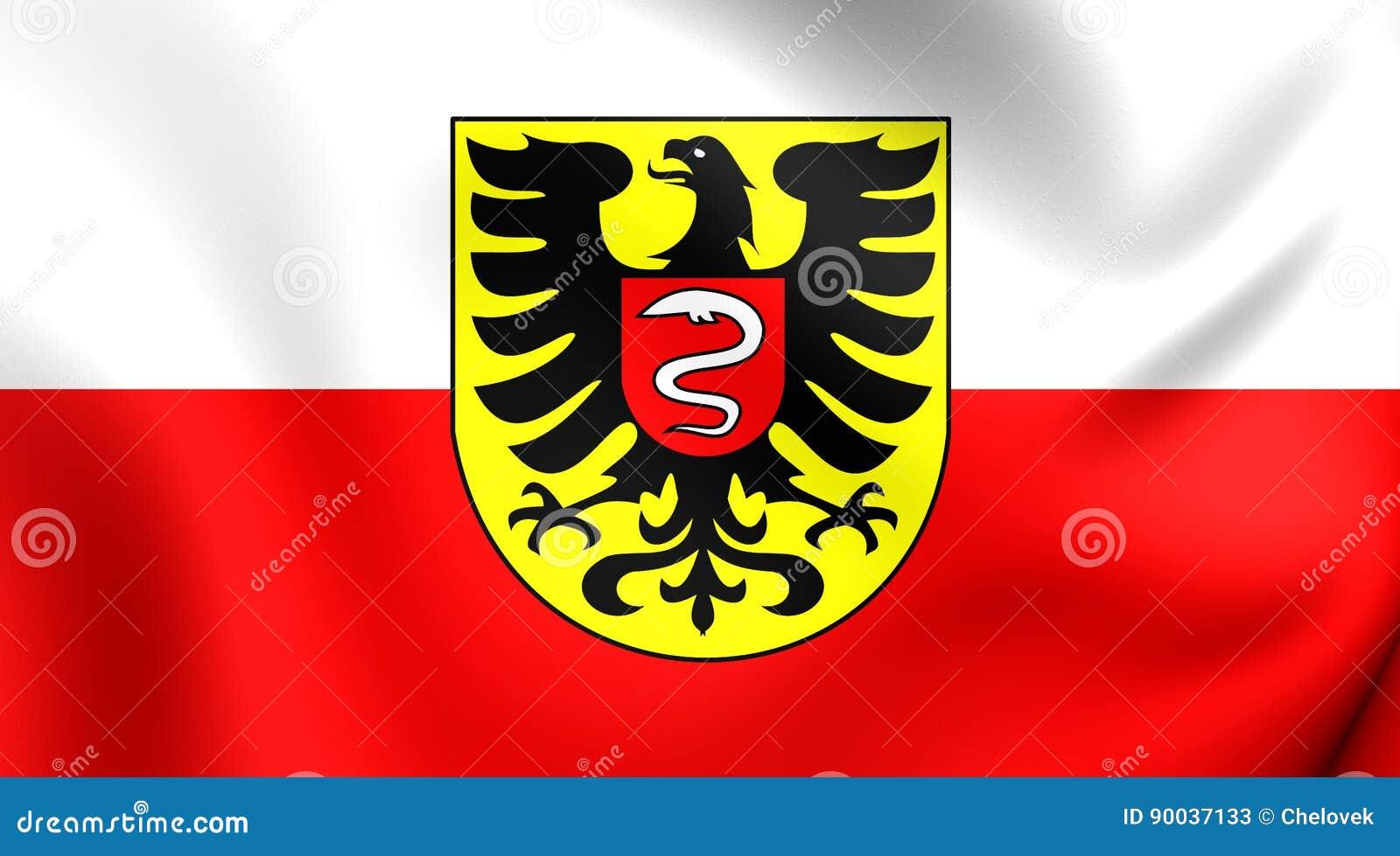Flag Of Aalen City Baden Wurttemberg Germany Stock Illustration