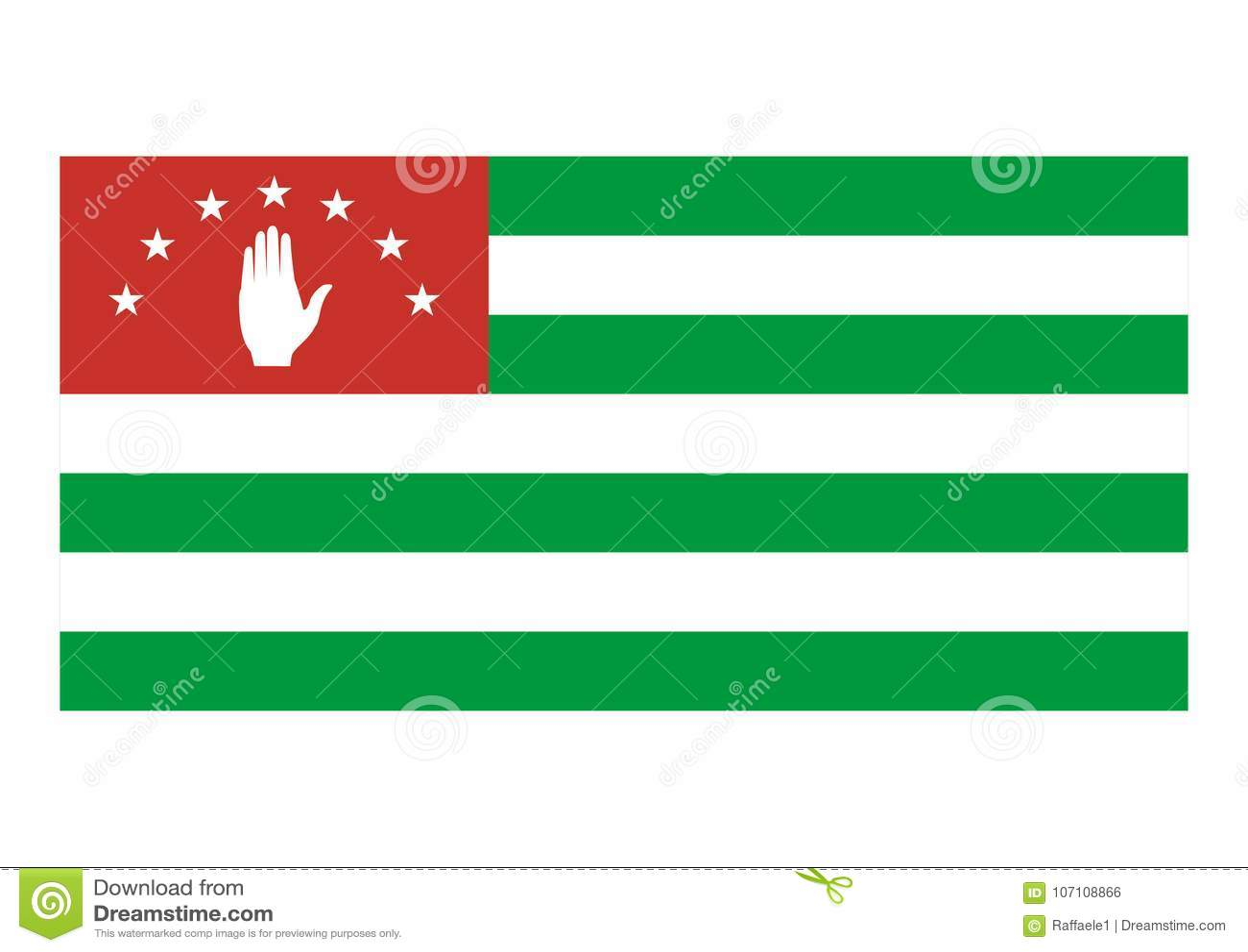 Flag of Abkhazia stock vector. Illustration of abkhazia ... - photo#32