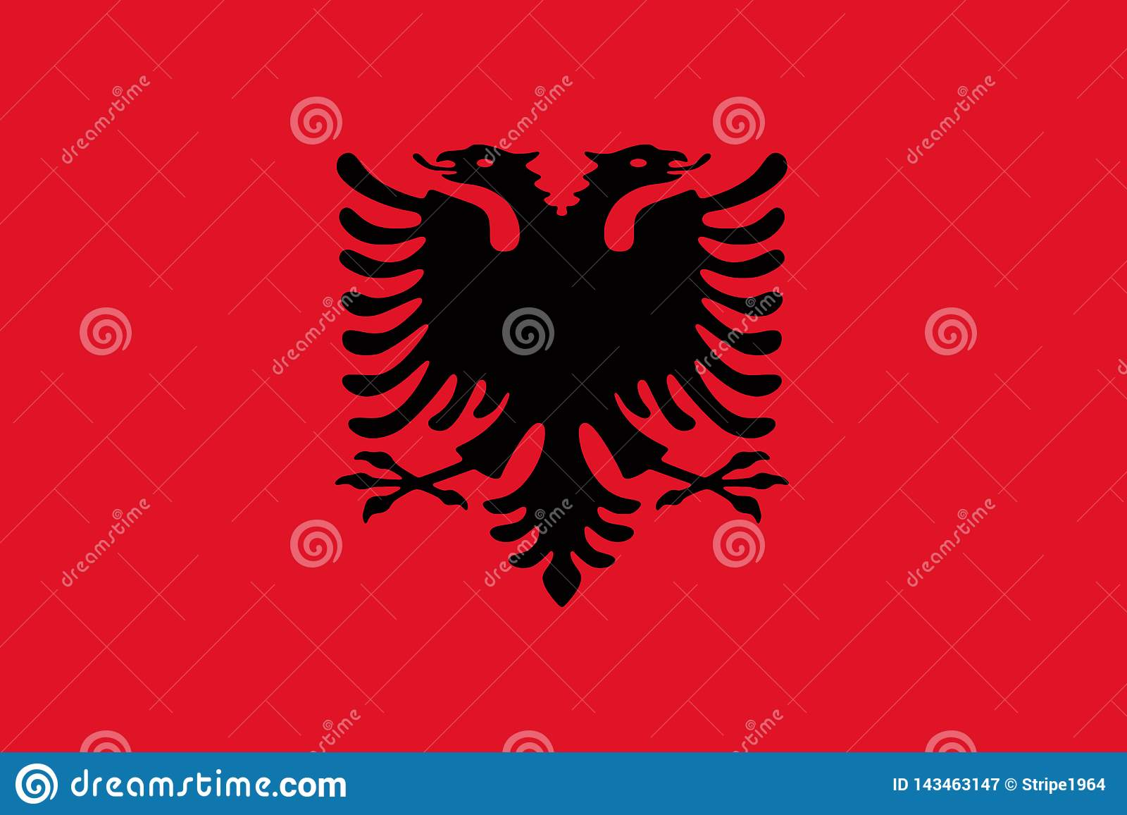 Flag of Albania background illustration large file