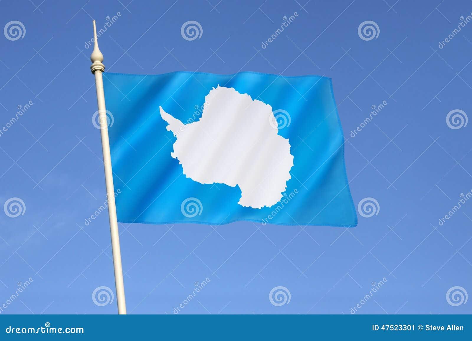 Flag Of Antarctica Stock Photo - Image: 47523301
